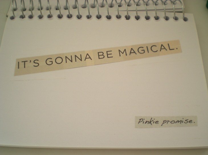 because sometimes, I forget to believe in magic.